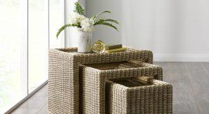 wicker nest of tables swindon